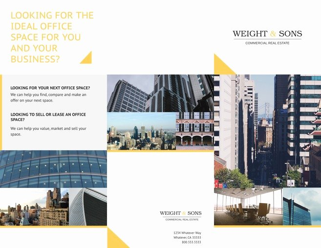 Real Estate Brochure Template Unique Free Tri Fold Brochure Templates & Examples [15 Free