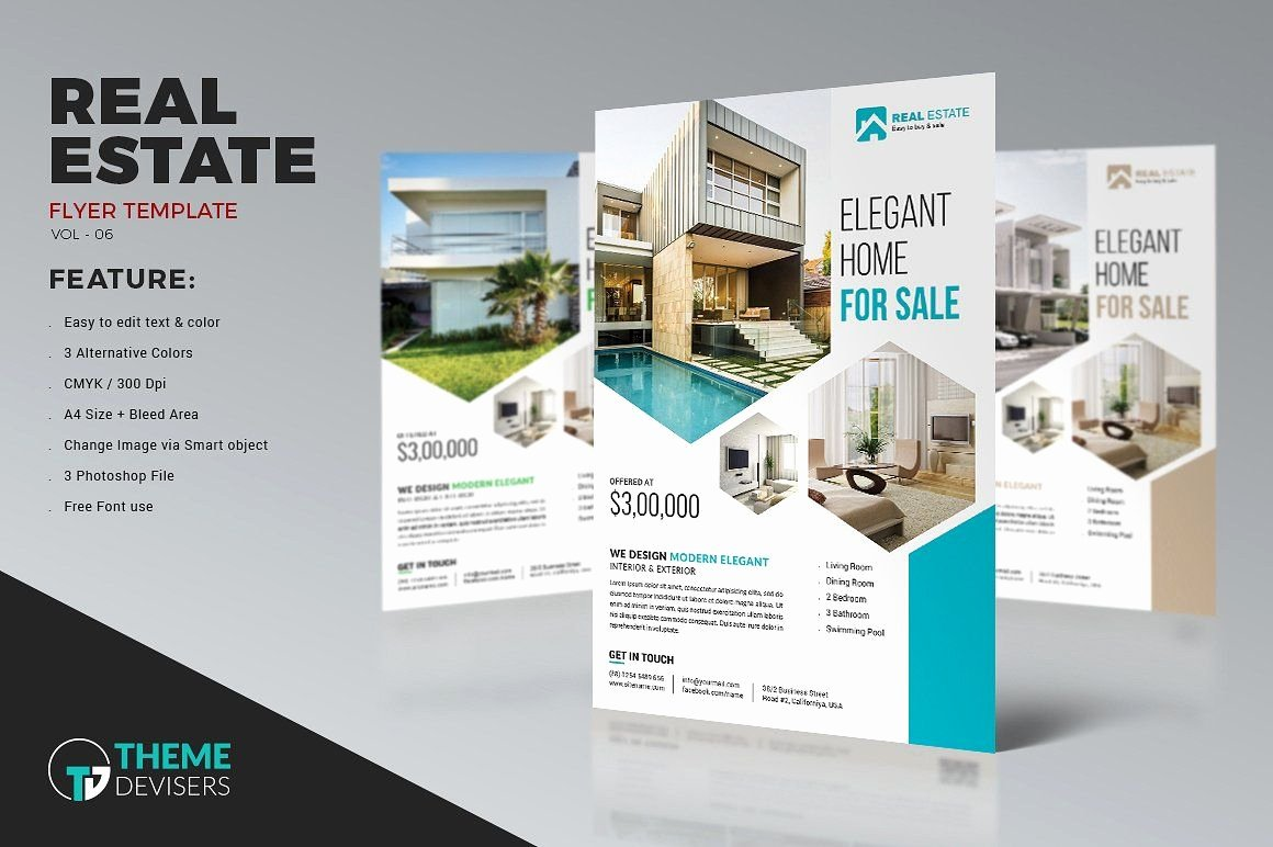 Real Estate Brochure Template Unique Real Estate Business Flyer Template by themedevisers On