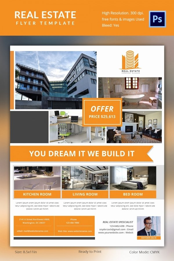 Real Estate Brochure Template Unique Real Estate Flyer Template 37 Free Psd Ai Vector Eps