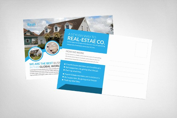 Real Estate Postcard Template Awesome 24 Holiday Postcard Templates Free Pdf Psd Png format