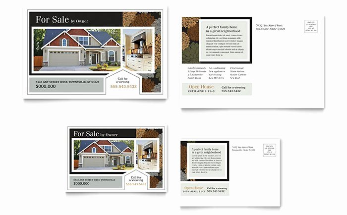 Real Estate Postcard Template Awesome Real Estate Marketing Postcards – Quick & Easy Templates