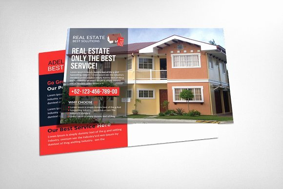 Real Estate Postcard Template Awesome Real Estate Postcard Template Card Templates On Creative