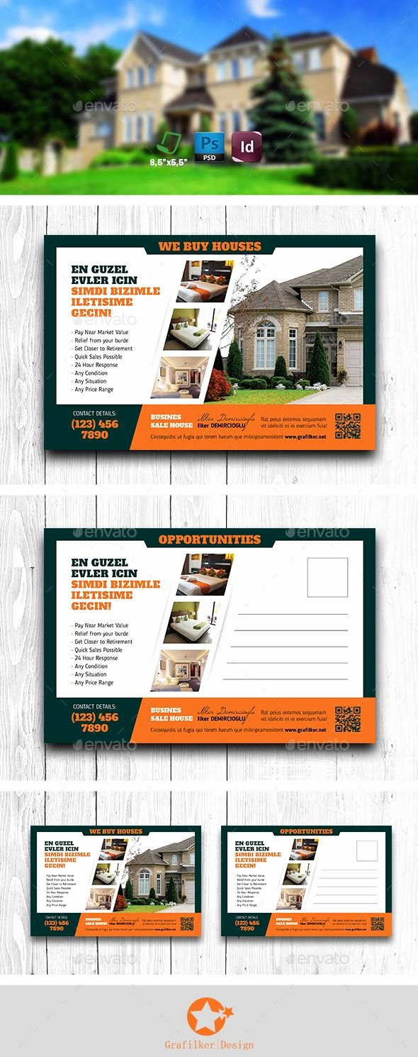 Real Estate Postcard Template Beautiful Pin by Best Graphic Design On Postcard Templates