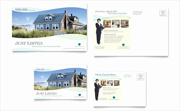 Real Estate Postcard Template Best Of 20 Realtor Postcard Templates – Free Sample Example