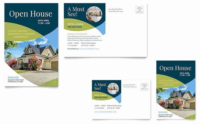 Real Estate Postcard Template Lovely Real Estate Marketing Postcards – Quick & Easy Templates