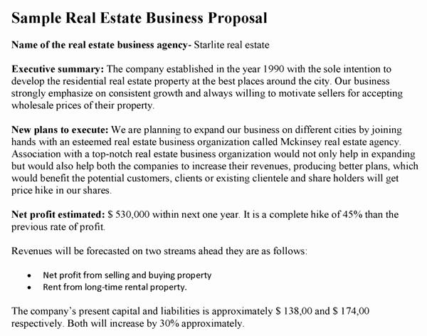 Real Estate Proposal Template Beautiful Real Estate Business Proposal Template