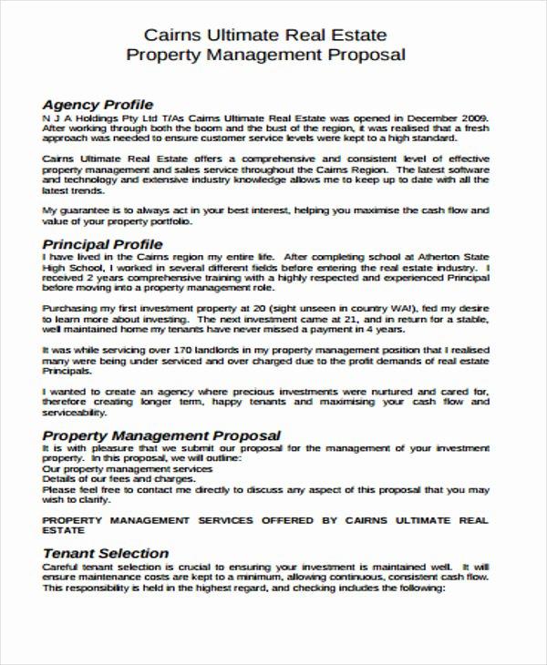 Real Estate Proposal Template Inspirational Real Estate Business Proposal Templates 10 Free Word