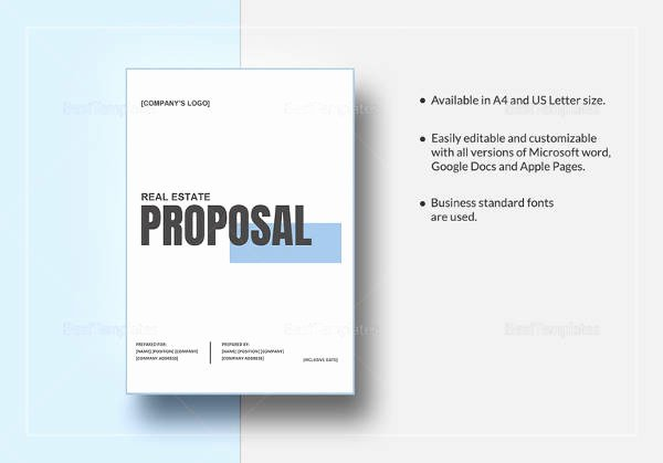 Real Estate Proposal Template Unique 10 Real Estate Proposal Templates