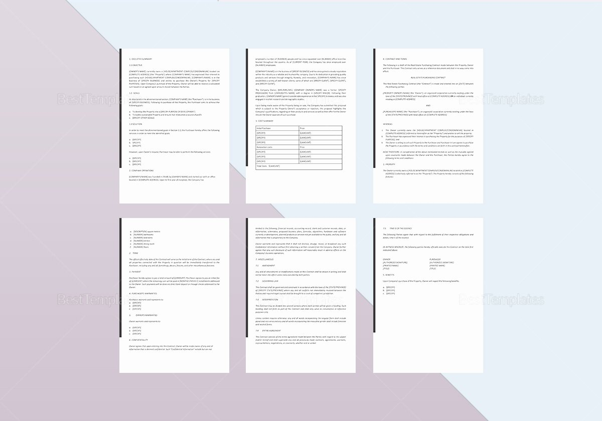 Real Estate Proposal Template Unique Real Estate Investment Proposal Template In Word Google