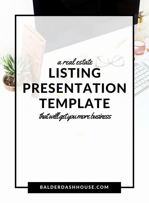 Realtor Listing Presentation Template Awesome A Real Estate Listing Presentation Template to Help You