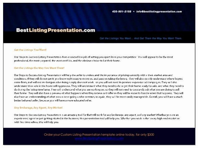 Realtor Listing Presentation Template Beautiful Best Real Estate Listing Presentation for Ipad