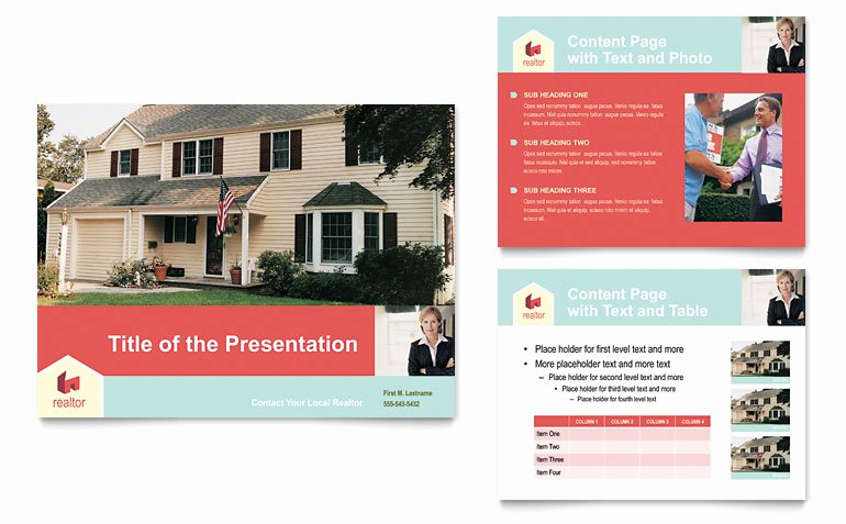 Realtor Listing Presentation Template New Home Real Estate Powerpoint Presentation Powerpoint Template