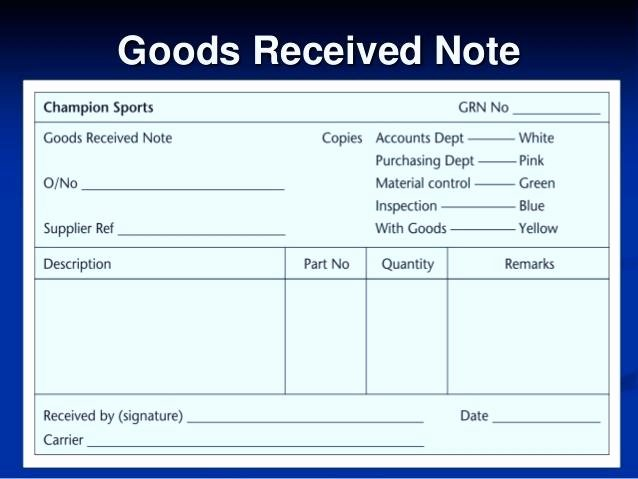 Receipt Of Goods Template Awesome 15 Goods Receipt Note format