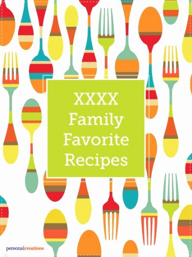 Recipe Book Cover Template Elegant Make Your Own Personalized Family Favorite Recipes Book