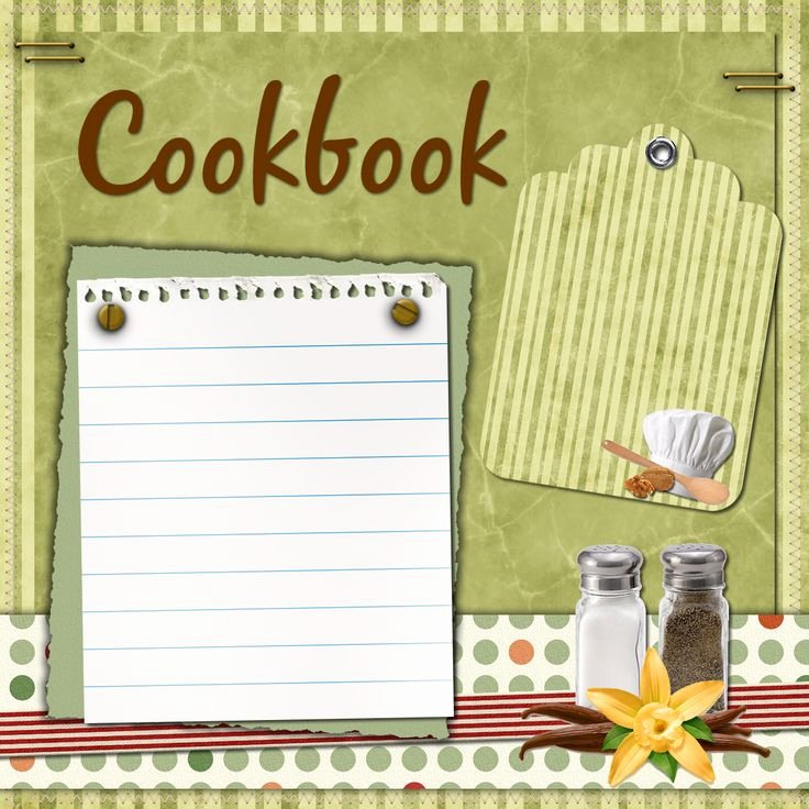 Recipe Book Cover Template Fresh Recipe Book Cover Png Transparent Recipe Book Cover Png