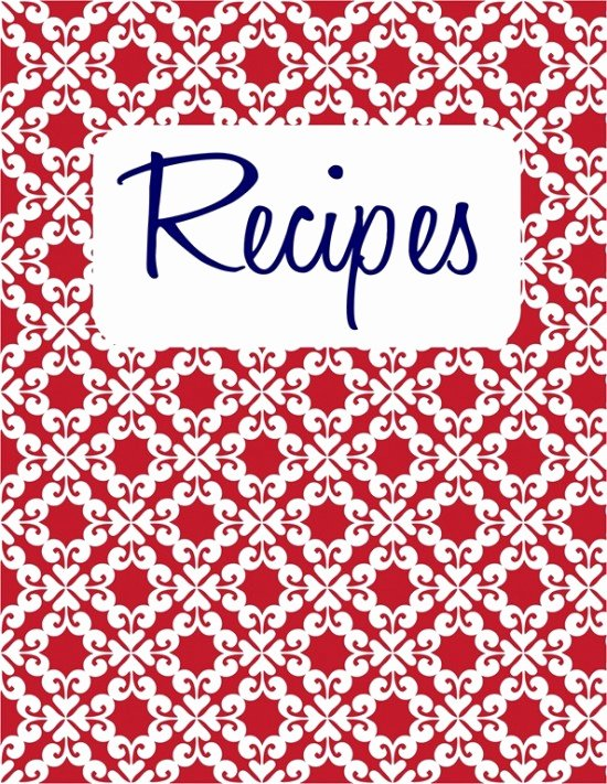 Recipe Book Cover Template Inspirational 6 Best Of Printable Cookbook Covers to Print