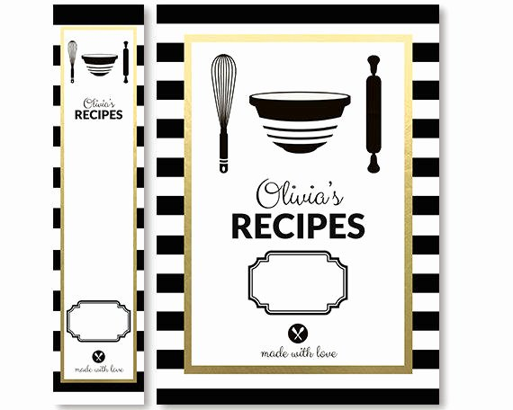 Recipe Book Cover Template Inspirational Recipe Binder Cover and Spine Insert Set From