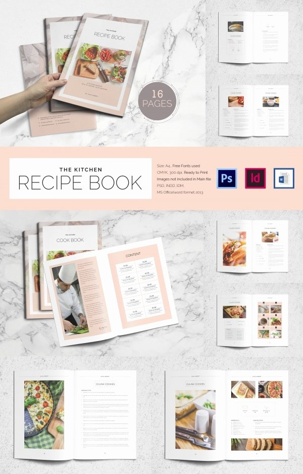 Recipe Book Template Free Best Of 31 Cookbook Templates Psd Ai Vector Eps