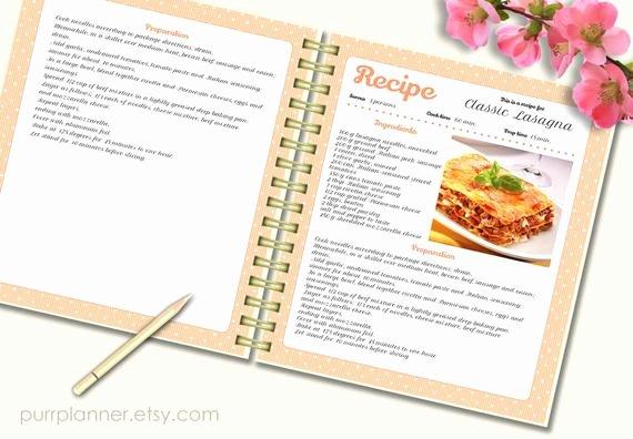 Recipe Book Template Free Best Of Recipe Template Cook Book Pattern Editable Recipe by