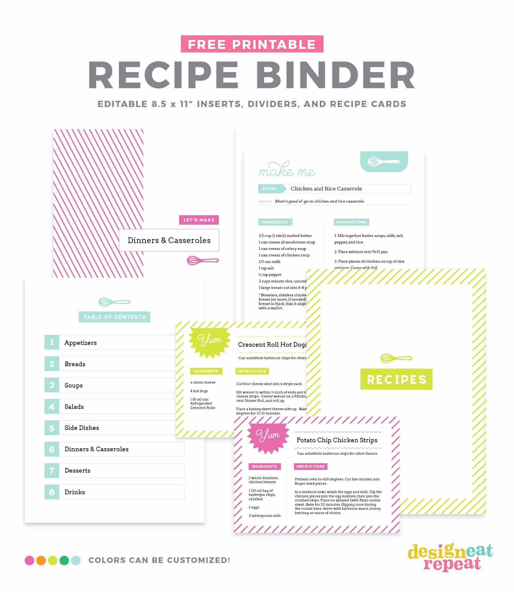 Recipe Book Template Free New Diy Recipe Book with Free Printable Recipe Binder Kit