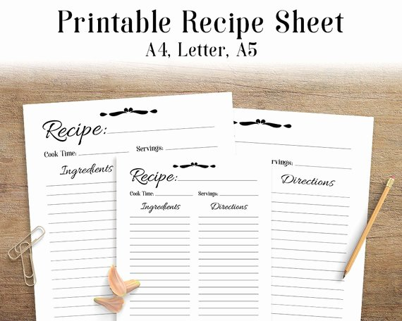 Recipe Book Template Free New Recipe Sheet Printable Recipe Page Template Blank Recipe