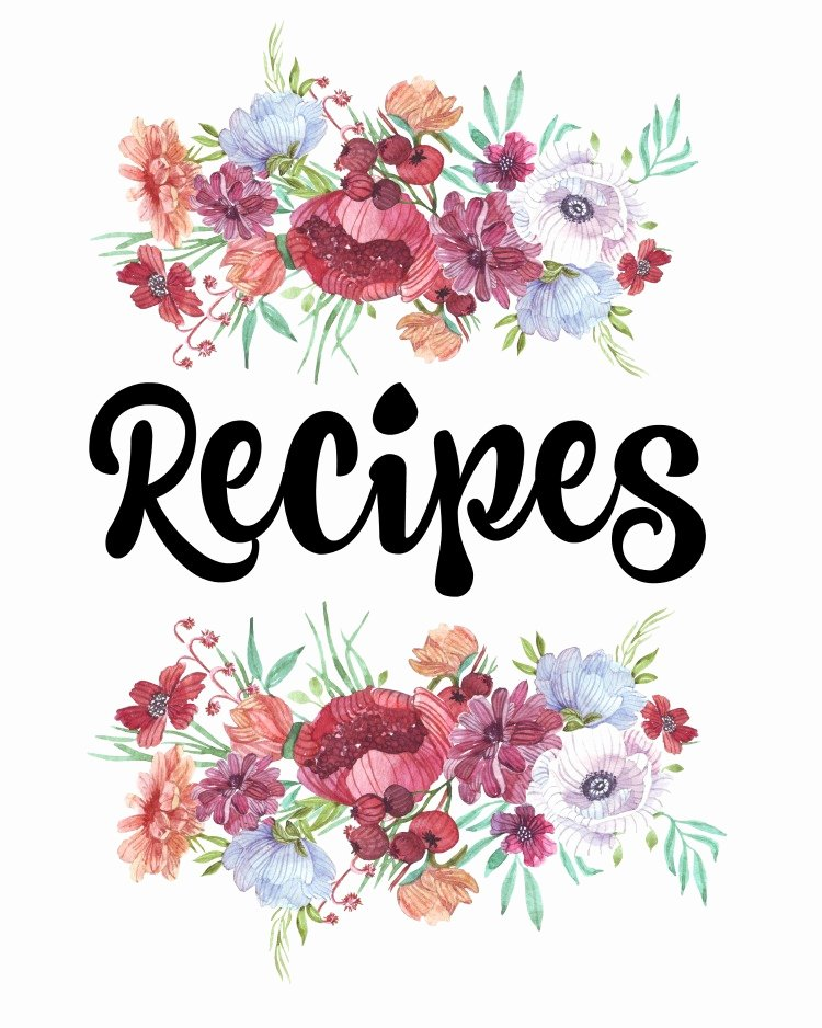Recipe Book Template Free Unique How to organize Recipes Free Printable Recipe Binder