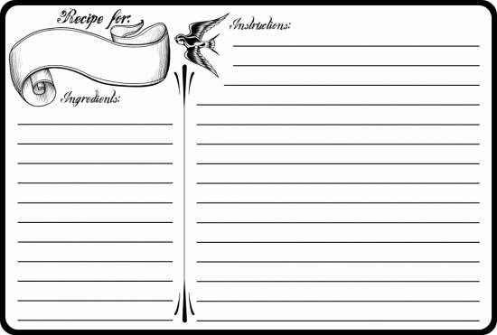 Recipe Book Template Pages Inspirational 40 Recipe Card Template and Free Printables – Tip Junkie