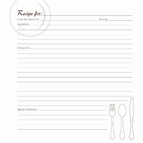 Recipe Book Template Pages New Family Recipe Book Amazon