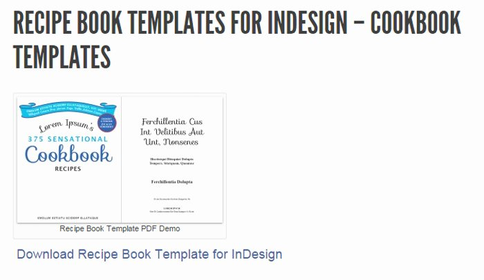 Recipe Template for Mac Awesome 5 Indesign Cookbook Template