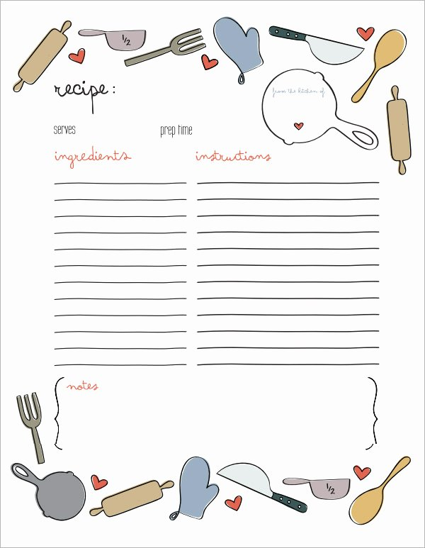 Recipe Template for Mac Awesome 7 Recipe Card Templates