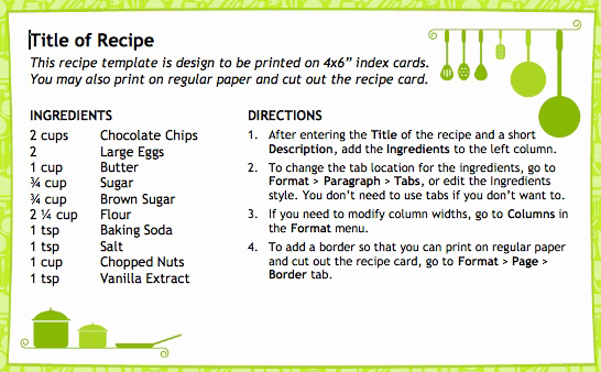 Recipe Template for Mac Beautiful Useful Free Open Fice Templates to Make You More Productive