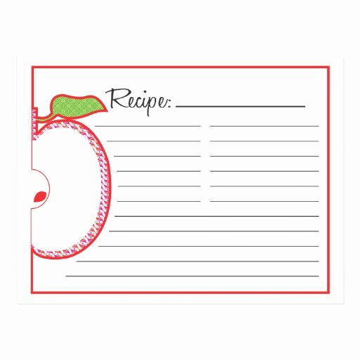 Recipe Template for Mac Elegant Recipe Postcards & Postcard Template Designs