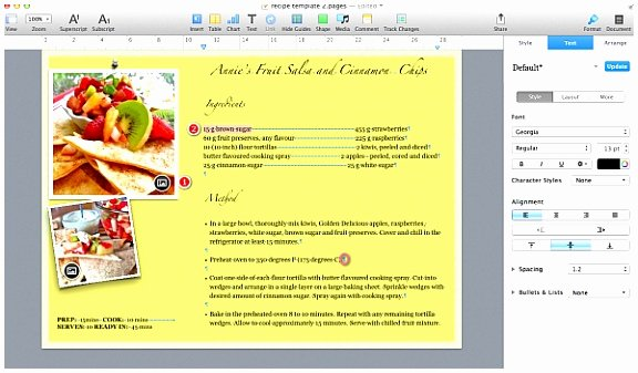 Recipe Template for Mac Luxury 6 Recipe Book Template for Mac Ottcu