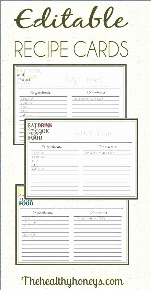 Recipe Template for Mac New Recipe Card Divider Free Printable Recipe Cards
