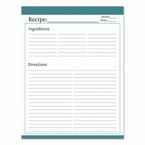 Recipe Template for Pages Beautiful Blank Recipe Template Full Page Templates Resume