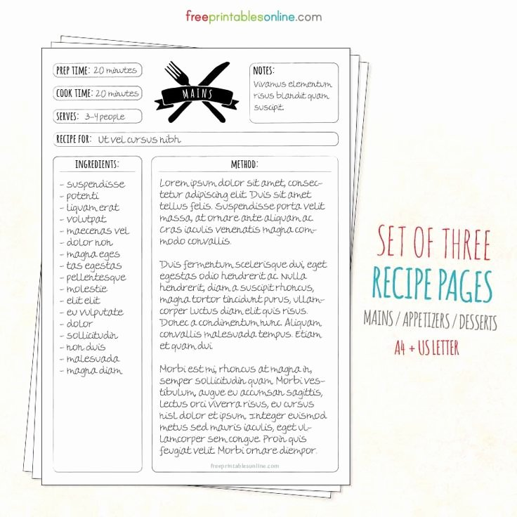 Recipe Template for Pages Elegant Best 25 Recipe Templates Ideas On Pinterest