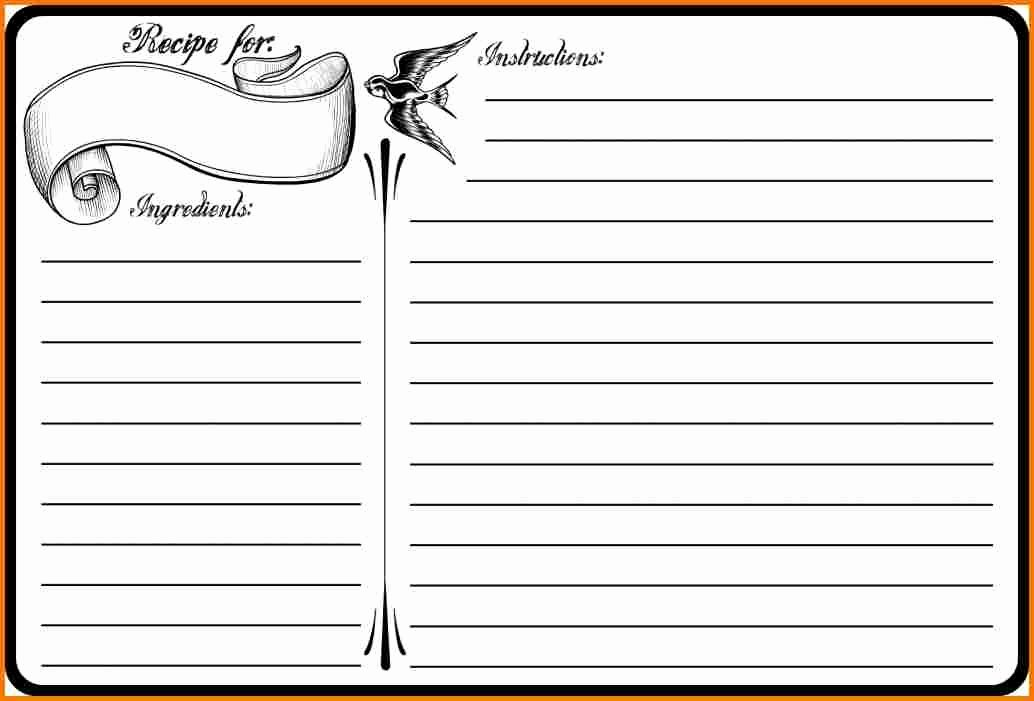Recipe Template for Pages Inspirational Blank Recipe Template