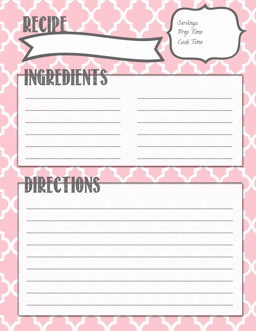 Recipe Template for Pages Inspirational Melanie Gets Married Recipe Binder Printables