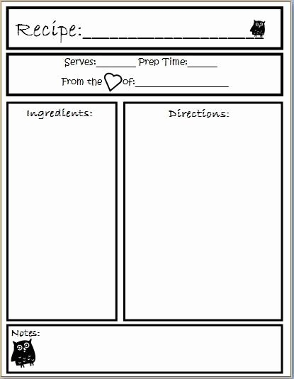Recipe Template for Pages Lovely Template Preschool Cookbook Printable Yahoo Image Search