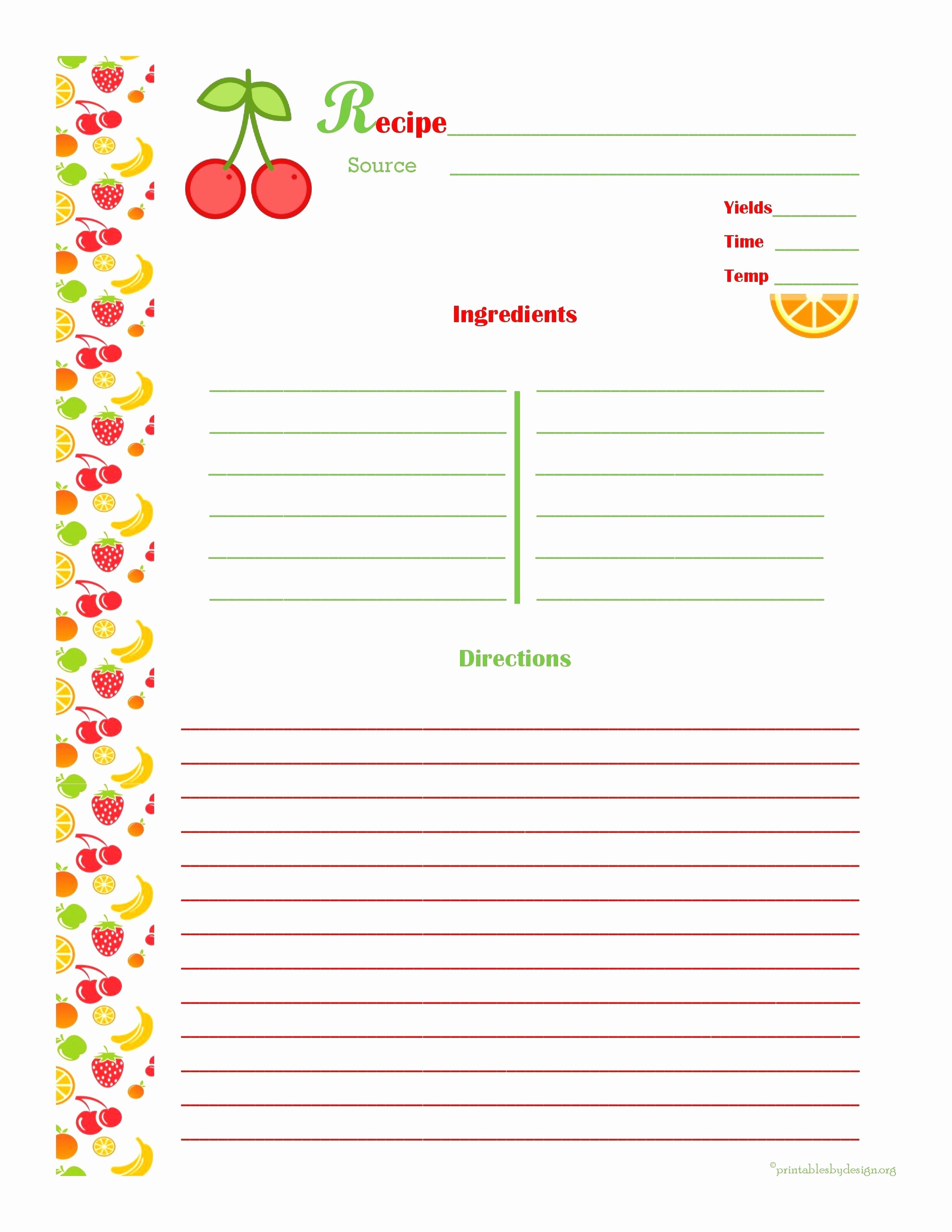 Recipe Template for Pages New Luxury Free Printable Brochure Maker