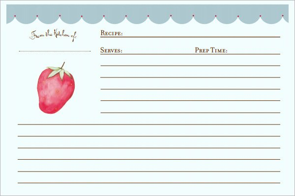 Recipe Template for Word Beautiful 7 Recipe Card Templates