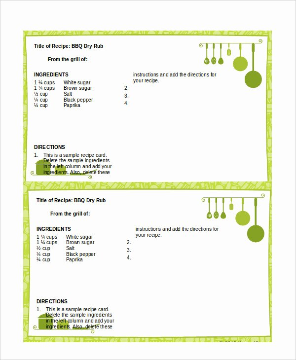Recipe Template for Word Beautiful Word Recipe Template 6 Free Word Documents Download