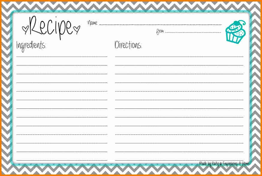 Recipe Template for Word New Recipe Card Template for Word