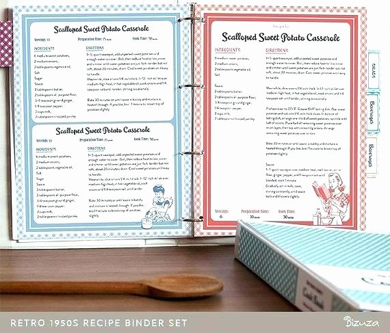 Recipe Template Google Docs Beautiful Recipe Book Template Binder Set Retro Style Printable Fun