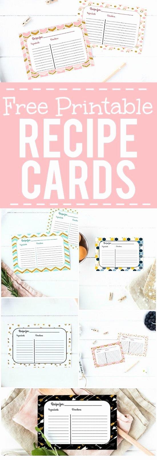 Recipe Template Google Docs Elegant Card Recipe Card Template Picture Recipe Card Template