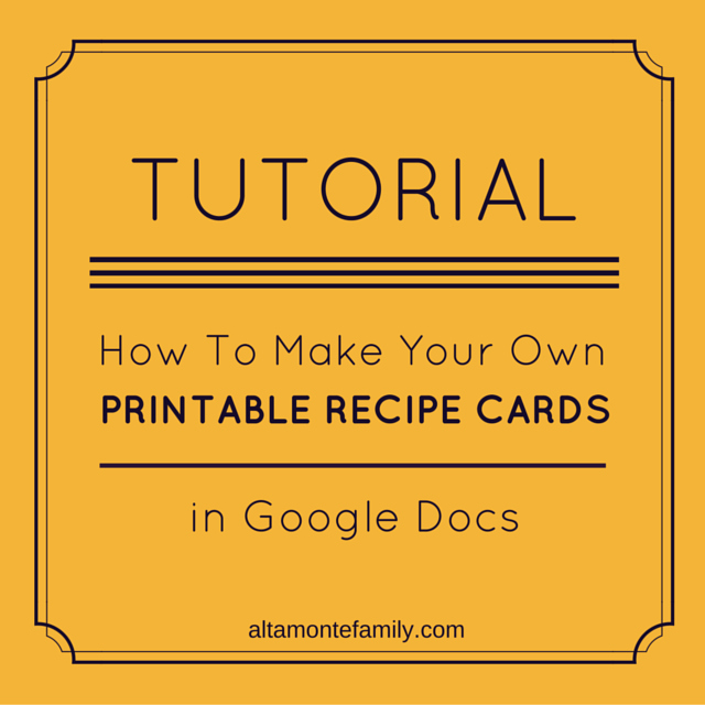 Recipe Template Google Docs Luxury How to Make Free Printables In Google Docs