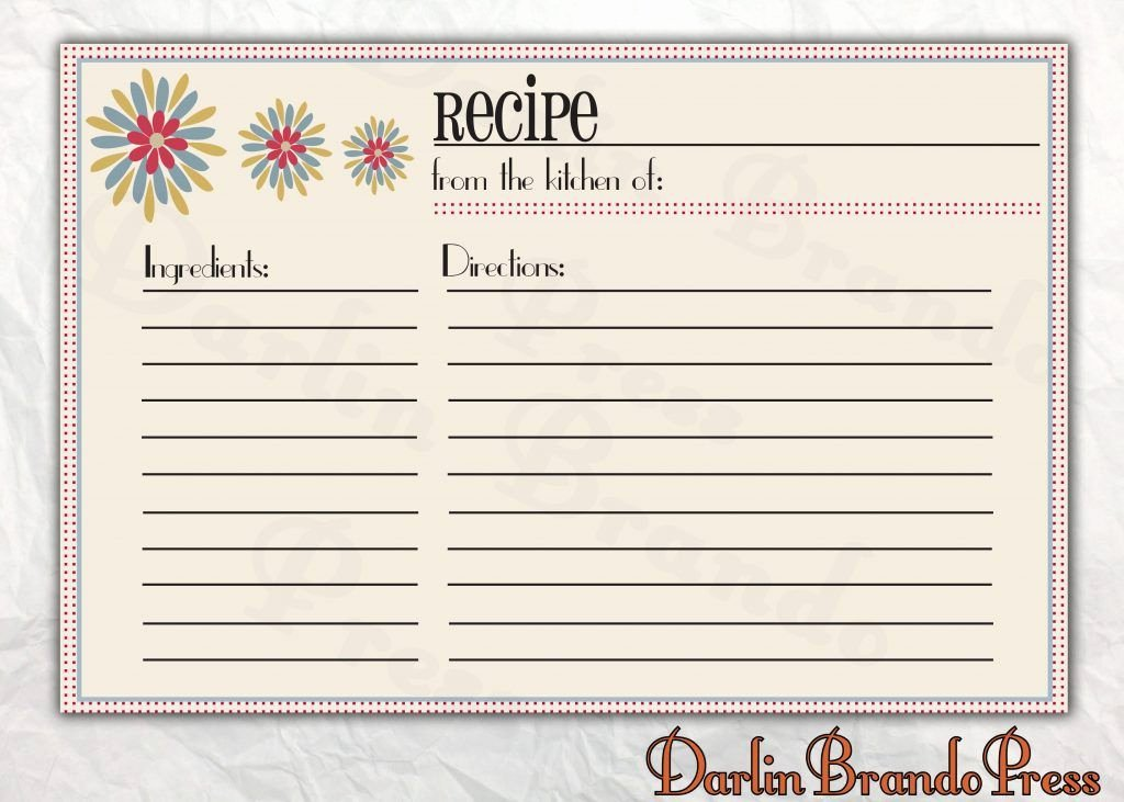 Recipe Template Google Docs Unique Free Editable Recipe Card Templates for Microsoft Word
