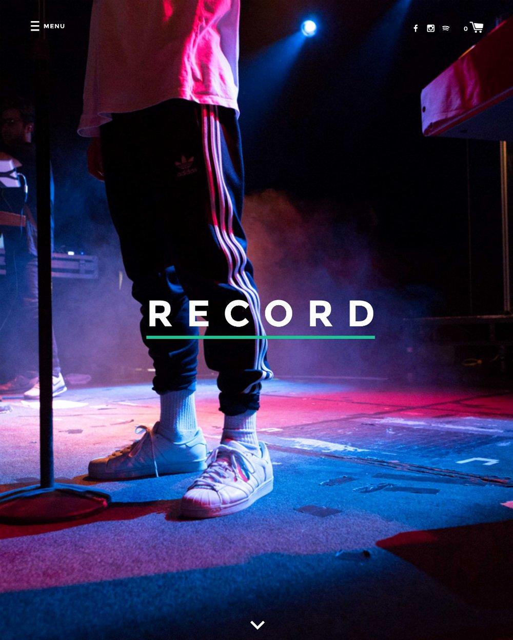 Record Label Web Template Beautiful Record theme Label E Merce Website Template