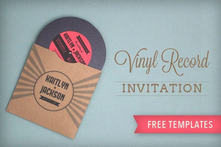 diy record wedding invitations