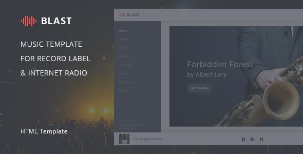 Record Label Web Template Fresh Blast – Music Template for Record Label & Internet Radio